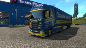 Scania Blue-Yellow Paint Edition for Euro Truck Simulator 2