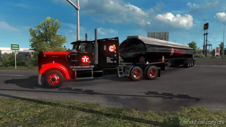 Texaco Skin For Autocar AT64 Truck for American Truck Simulator