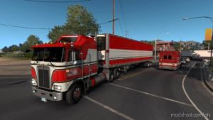 BJ And The Bear Truck Skin For Kenworth K100E And Trailer V1.1 for American Truck Simulator