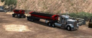 Smithco Side Dump Double Trailer V1.2 [1.36] for American Truck Simulator