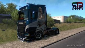 Lady Scania Paintjob 2ND Edition For Scania S 2016 for Euro Truck Simulator 2
