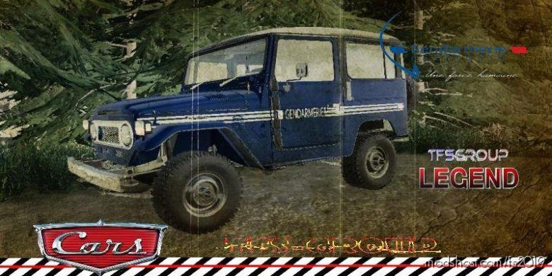 Toyota FJ40 Gendarmerie V1.3 for Farming Simulator 2019