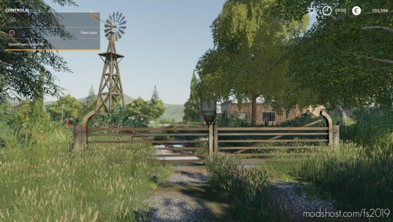Placeable Wide Double Farm Gate By Stevie for Farming Simulator 2019