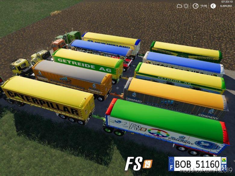Pack3 2 Trailers Dump By BOB51160 V2.0 for Farming Simulator 2019