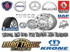 Wheel RIM Pack For Trucks And Trailers [1.36] V2.0 for Euro Truck Simulator 2