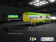 Pack 4 Trailers Dump By BOB51160 V2.0 for Farming Simulator 2019