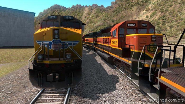 Improved Trains V3.4 Beta [1.37 Open Beta] for American Truck Simulator