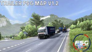 Map Of Alsace (FSG) Scale 1:1 V1.2 [1.36.X] for Euro Truck Simulator 2