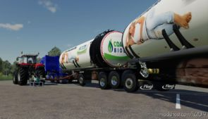 Fliegl Semi Roadtrain Biogas Trailer V1.6 for Farming Simulator 2019