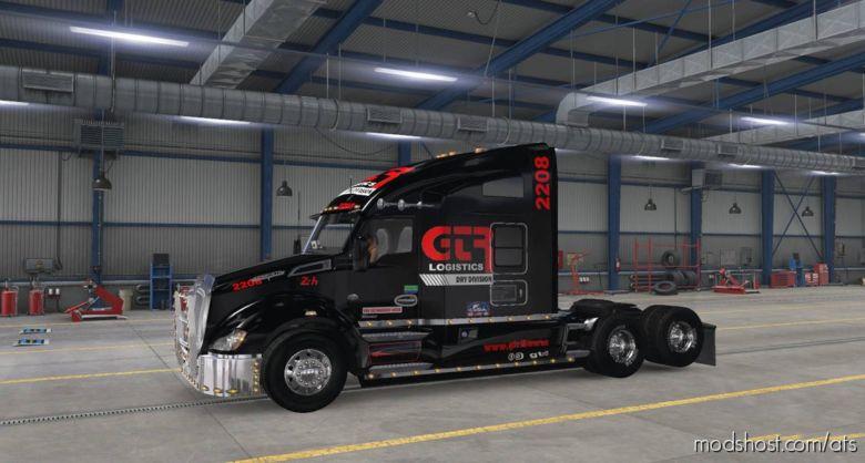 Skin GTR Logistics For KW T680 for American Truck Simulator