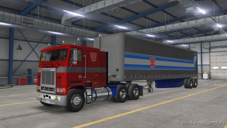 """""""Optimus Prime"""" For Harven's Freightliner FLB for American Truck Simulator"""