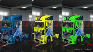 85 Paintjob For Mercedes-Benz Actros MP4 for Euro Truck Simulator 2