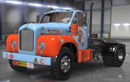 Gufl Pin-Up Skin For Mack B62 for American Truck Simulator