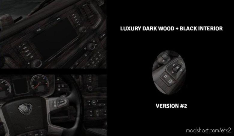 Scania S & R 2016 Luxury Wood + Black Interior [1.36.X] for Euro Truck Simulator 2