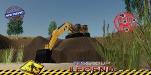Excavator Caterpillar 390F V1.5 for Farming Simulator 2019