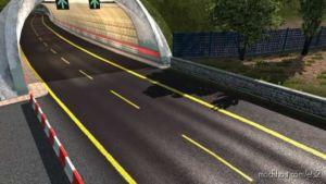 Road Yellow Stripes [1.36] for Euro Truck Simulator 2
