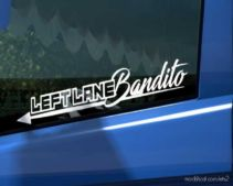 Leftlane Bandito Sticker For Glass [1.36.X] for Euro Truck Simulator 2