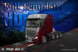 Mercedes Actros 2014 Template In 4K [1.36.X] for Euro Truck Simulator 2