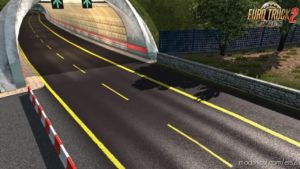 Road Markings Colored In Yellow [1.36.X] for Euro Truck Simulator 2