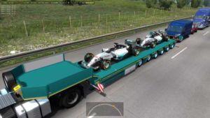 Mercedes AMG Petronas In Traffic [1.36] for Euro Truck Simulator 2