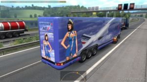 Aerodynamic Trailers Of Airline Companies In Traffic [1.36.X] for Euro Truck Simulator 2