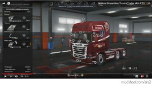 Scania Streamline Truck+Trailer Skin [1.36] for Euro Truck Simulator 2