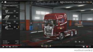 Scania Streamline Truck+Trailer Skin [1.36] for Euro Truck Simulator 2