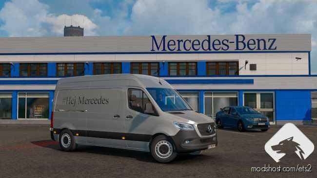 Mercedes Sprinter 2019 Beta V0.1 [1.36] for Euro Truck Simulator 2