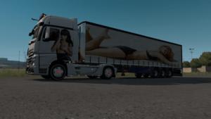 WOMAN TRUCK SKİN Trailer SKİN for Euro Truck Simulator 2