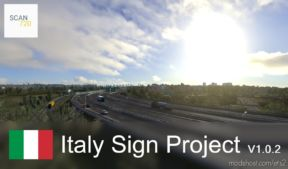 Italian Sign Project V1.0.2 By Scan720 [1.36.X] for Euro Truck Simulator 2