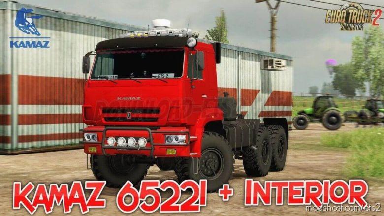 Kamaz 65221 + Interior (1.36.X) for Euro Truck Simulator 2