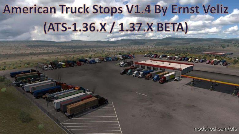 American Truck Stops V1.4 for American Truck Simulator