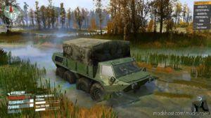Green Military Texture For GAZ-59037 for MudRunner