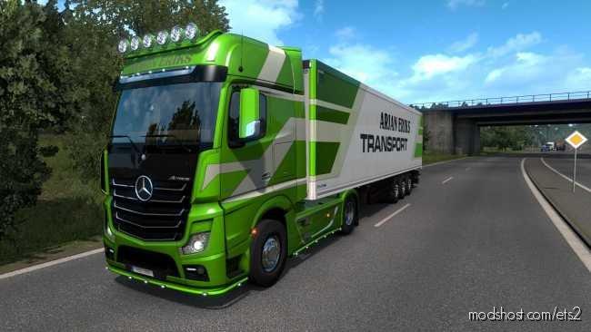 Mercedes Actros MP4 Arjan Eriks Transport Skinpack for Euro Truck Simulator 2