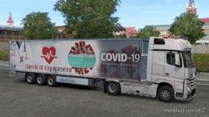 Covid-19 / Medical Equipment Trailer for Euro Truck Simulator 2