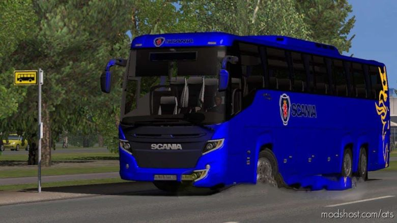 Scania Touring BUS V1.3 (V1.35.X, [1.36.X] ) for American Truck Simulator