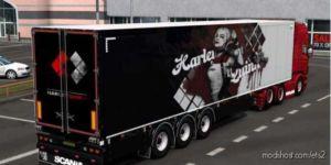 Harley Quinn Skin For SCS Trailers [1.36] for Euro Truck Simulator 2