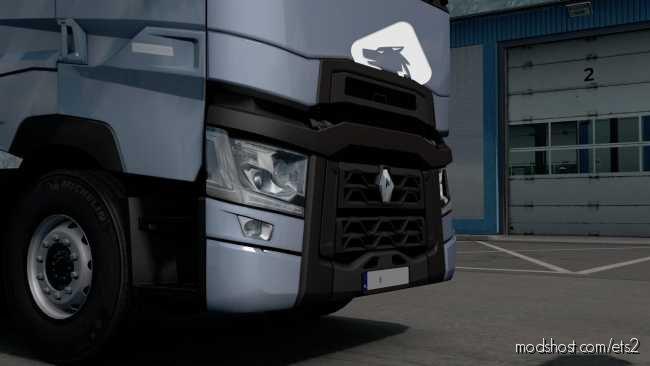 Renault T Registration Plate [1.36] for Euro Truck Simulator 2