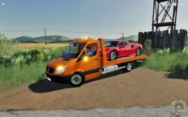 Mercedes Sprinter Transporter for Farming Simulator 19