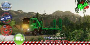 MAN 8X4 Rental Kran Laho V1.5 for Farming Simulator 19