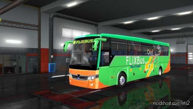 Temsa Safir Plus Flix BUS V2.0 for Euro Truck Simulator 2