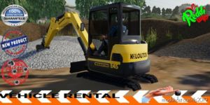 Mini Excavator Kiloutou V1.5 for Farming Simulator 19
