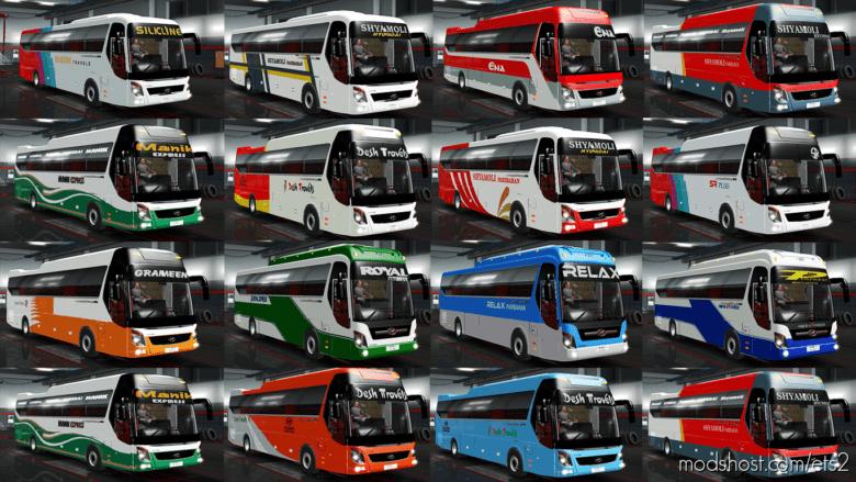 Hyundai Universe Express For 1.35 for Euro Truck Simulator 2
