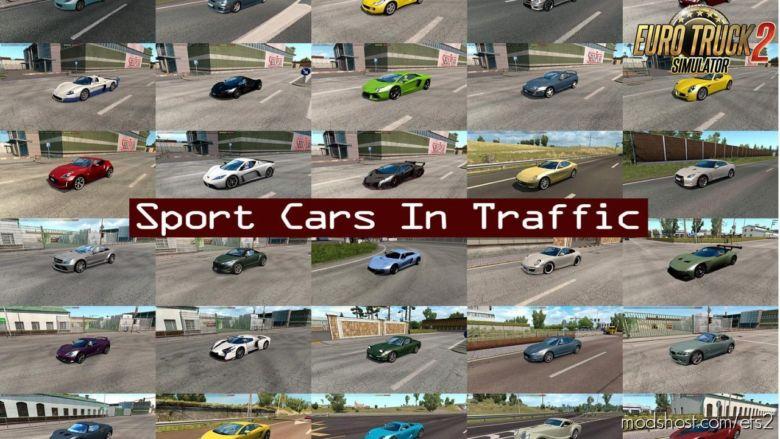Sport Cars In Traffic Pack V5.9 By Trafficmaniac (1.36.X) for Euro Truck Simulator 2