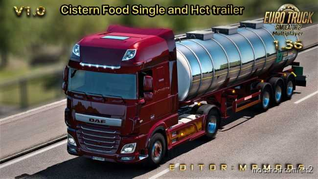 Cistern Food Single And HCT Trailer For Multiplayer for Euro Truck Simulator 2