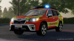 Subaru Forester Fire Brigade Kdow Skin for Farming Simulator 19