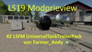 Lsfm Universal Tank Pack V 1.0.0.7 for Farming Simulator 19