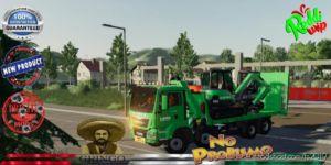 MAN Plateau Grue Auxiliaire Laho V2.0 for Farming Simulator 19
