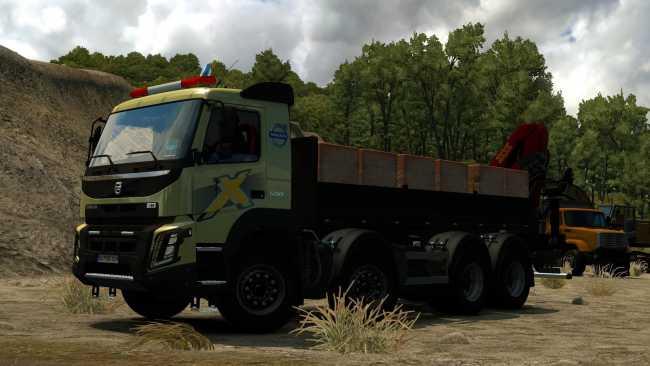 Volvo FMX Kipper Rework By Mistersix V1.8 for Euro Truck Simulator 2