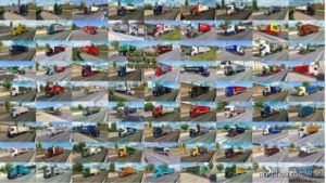 Painted Truck Traffic Pack By Jazzycat V10.2 for Euro Truck Simulator 2